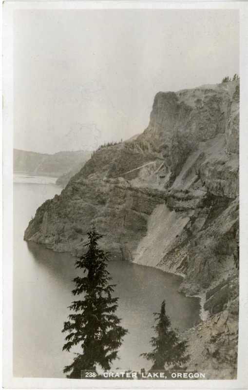 A view of Crater Lake, Oregon.