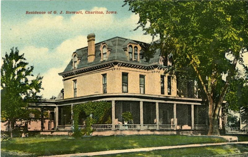 Residence of G.J. Stewart, Chariton, Iowa.