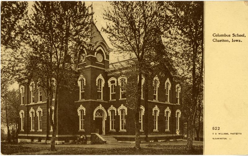 Columbus School in Chariton, Iowa.