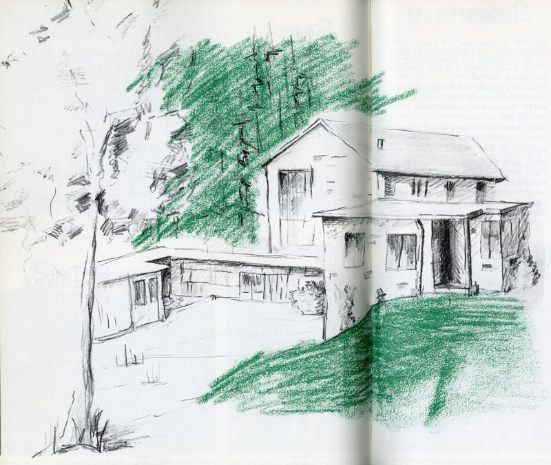 1963 Voyageur sketch of dorm building.jpg
