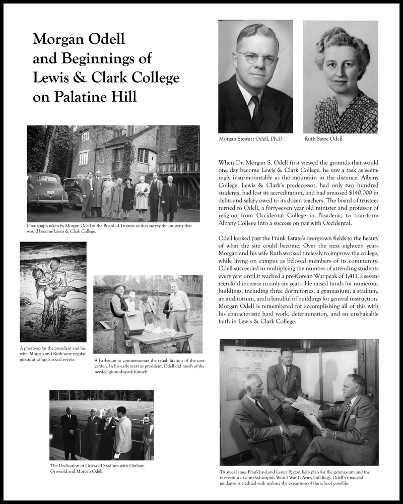 Morgan Odell and the Beginnings of Lewis & Clark College on Palatine Hill