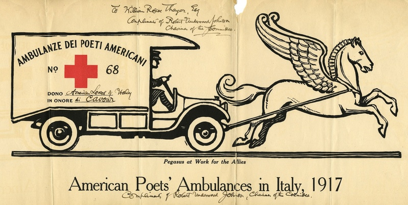 Certificate of Donation, Ambulanze dei Poeti Americani (American Poets' Ambulances)