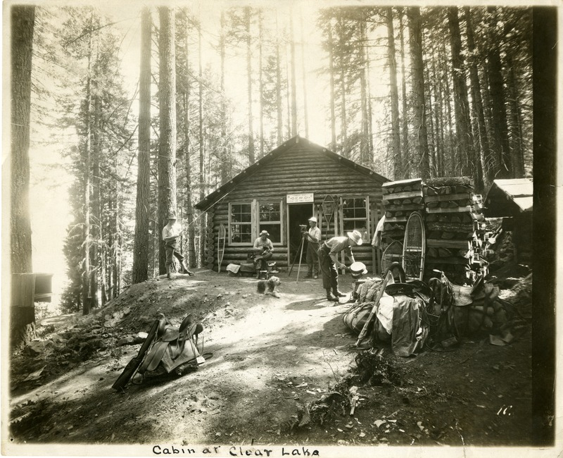 """Oregon Electric Railway Engineer's Cabin"" at Clear Lake."