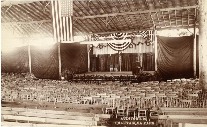The interior of the auditorium for the Chautauqua festival in Albany, Oregon.
