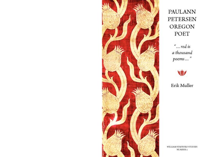 "Paulann Petersen: Oregon Poet "". . . red is a thousand poems . . ."""