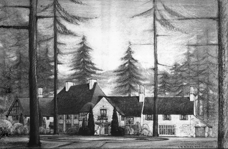 Frank Manor sketch of western view