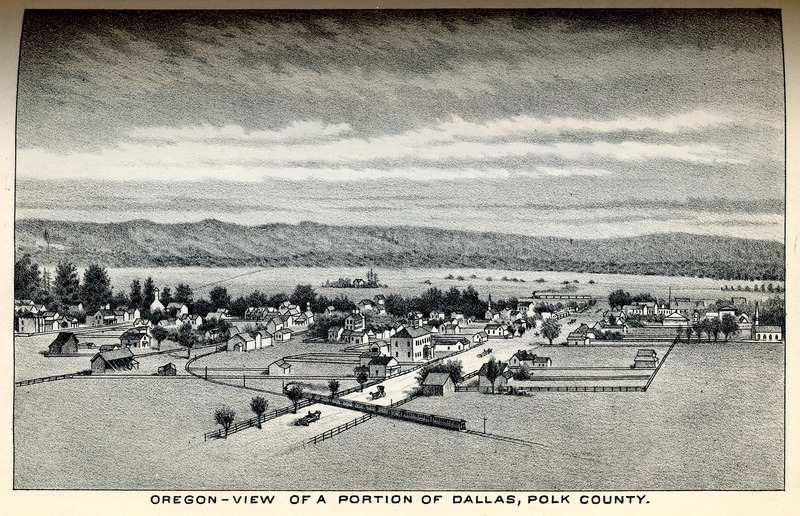 View of a Portion of Dallas, Polk County, Oregon