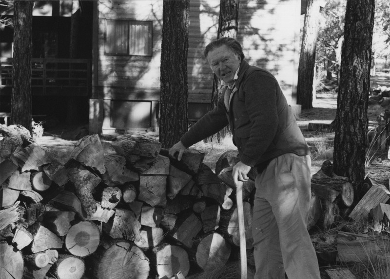 William Stafford stacking wood