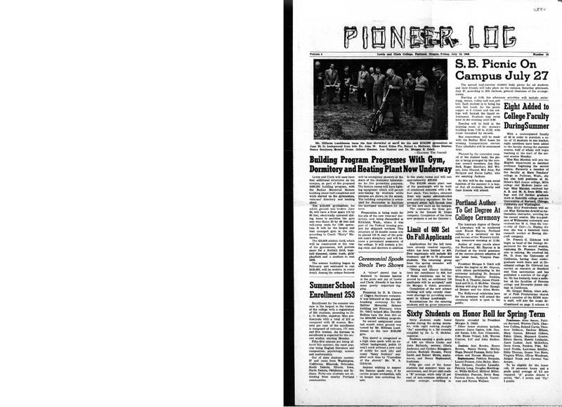The Pioneer Log: Lewis & Clark College's Student-Run Newspaper