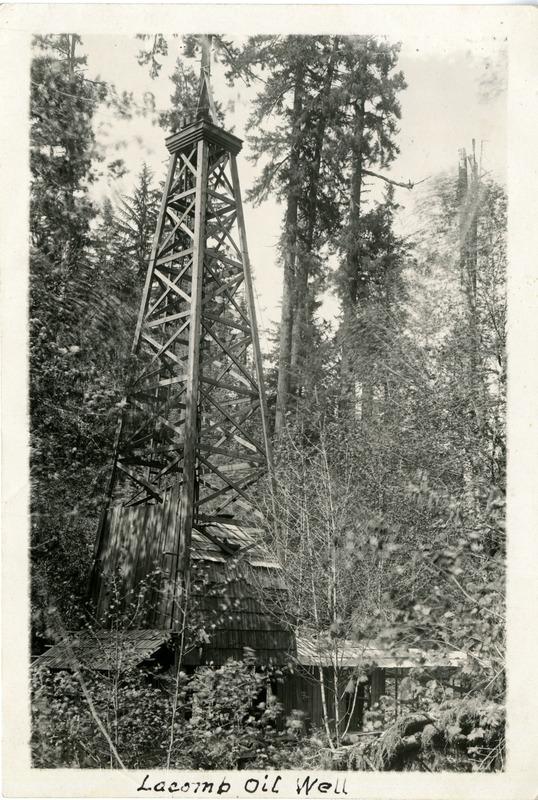 Lacomb Oil Well in Lacomb, Oregon.