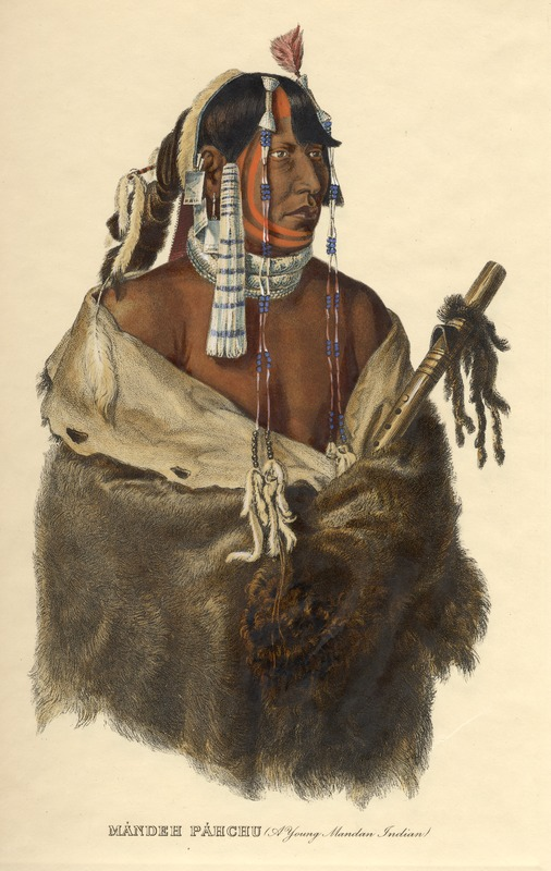Mandeh Pahchu, A Young Mandan Indian