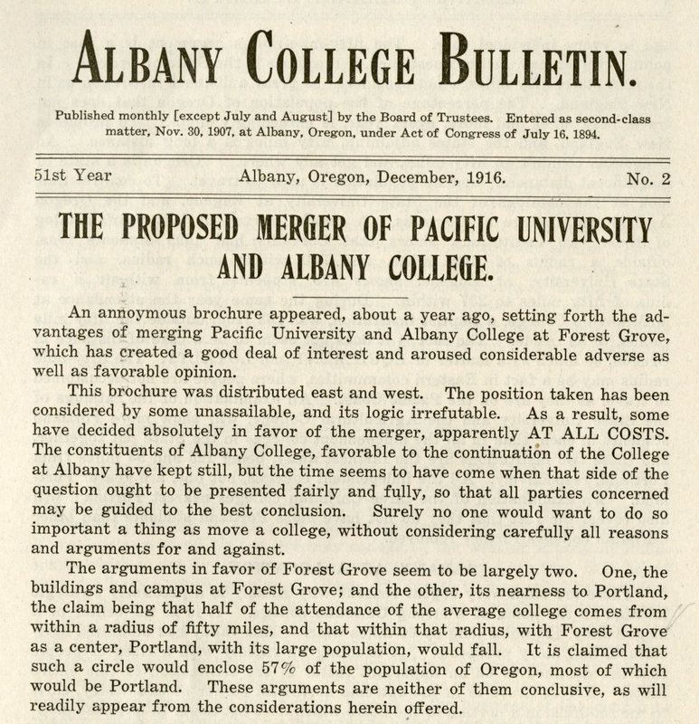 the proposed merger albany college bulletin december 1916.jpg