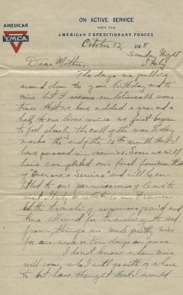 Correspondence: Morgan S. Odell to Clara Odell (Mother)