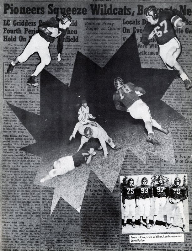 1949 Voyageur varsity football team page spread.jpg