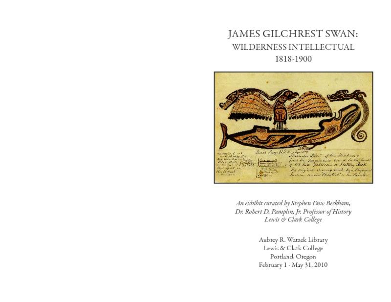 James Gilchrist Swan: Wilderness Intellectual, 1818-1900