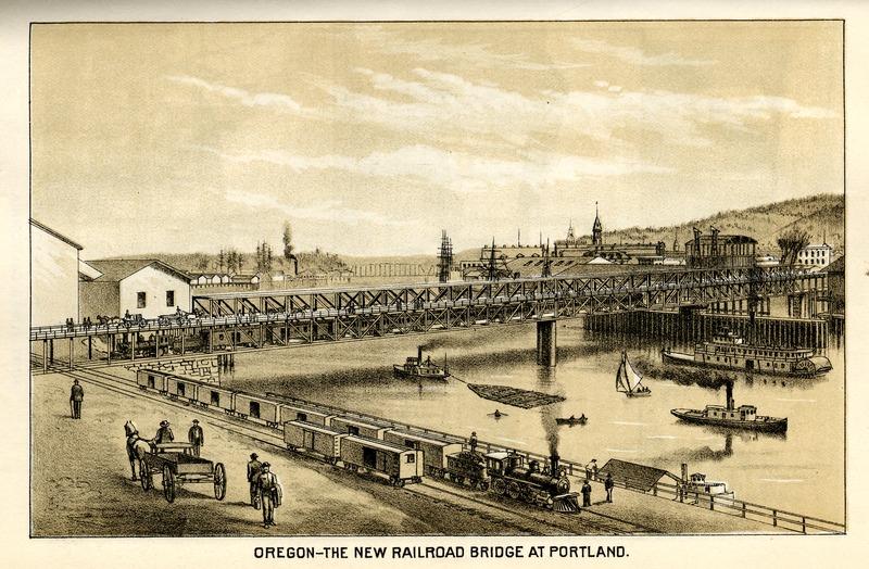The New Railroad Bridge at Portland, Oregon
