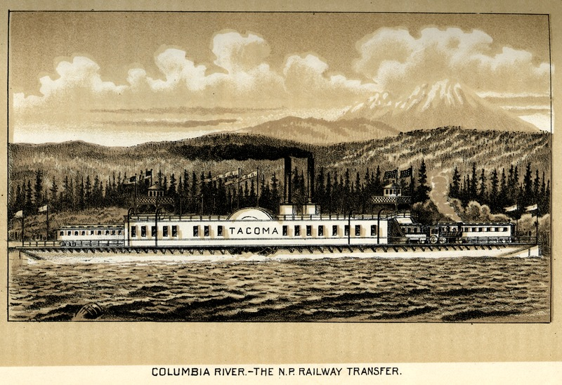 Columbia River - The N.P. Railway Transfer