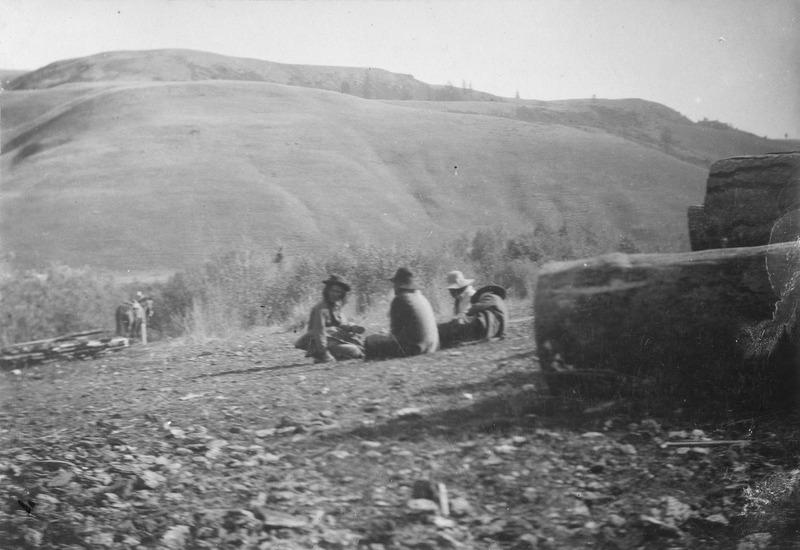 Four Nez Perce Men at Nespelem, 1893