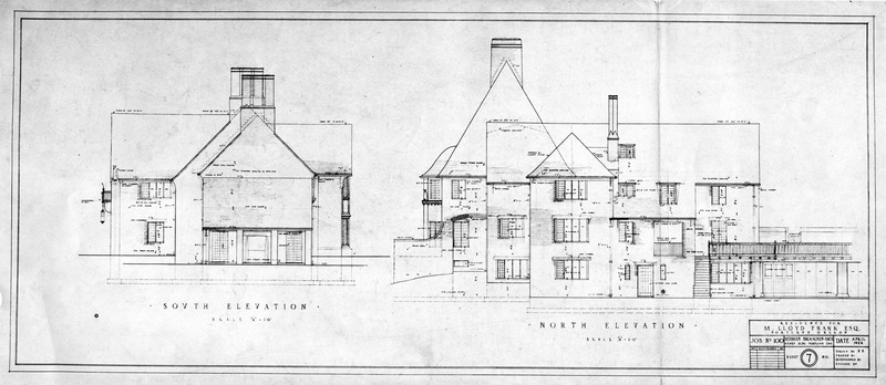 Frank Manor South and North Elevations